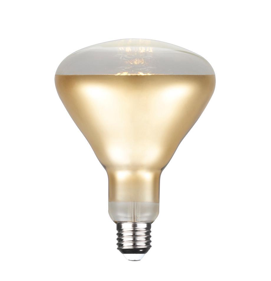 Lampadina E27, 7W, dimmerabile, bianco caldo, 1 pz, Paralume: vetro, Base lampadina: alluminio, Dorato, Ø 13 x Alt. 17 cm