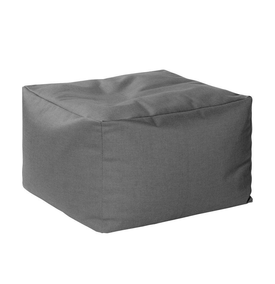 Pouf sacco da interno-esterno Loft, Rivestimento: 100% poliacrilico poliacr, Antracite, Larg. 80 x Prof. 80 cm
