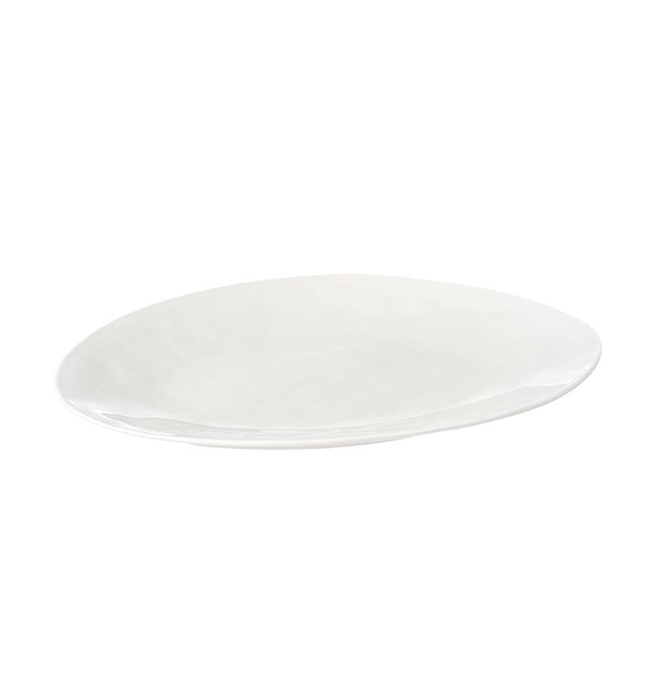 Piatto da portata in porcellana à la Maison, Porcellana, Crema, Larg. 28 x Lung. 34 cm