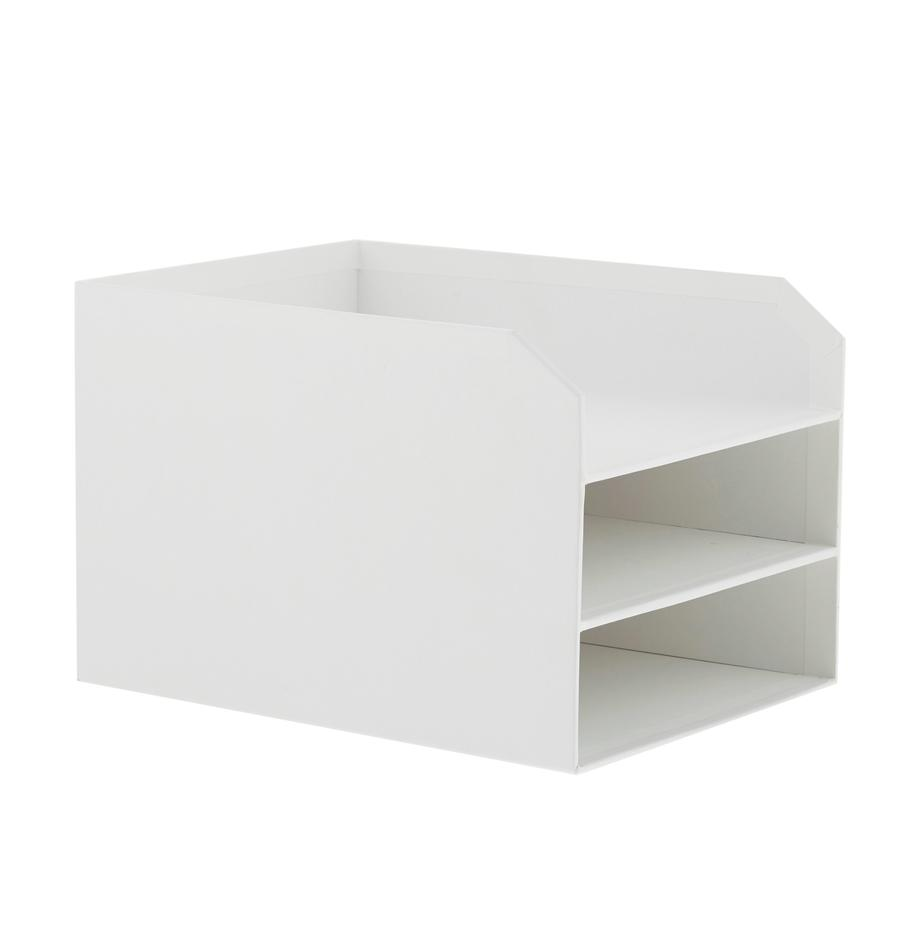 Documentenhouder Trey, Massief, gelamineerd karton, Wit, 23 x 21 cm