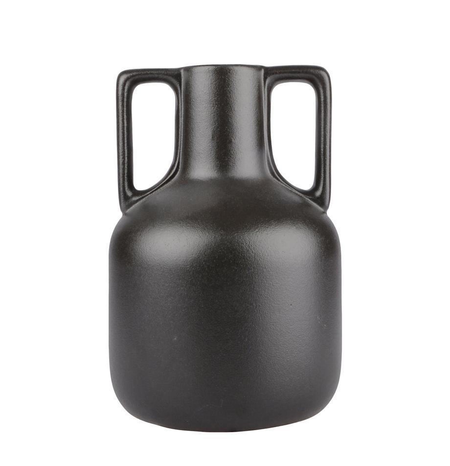 Vase Anna aus Keramik, Keramik, Schwarz, Ø 16 x H 24 cm
