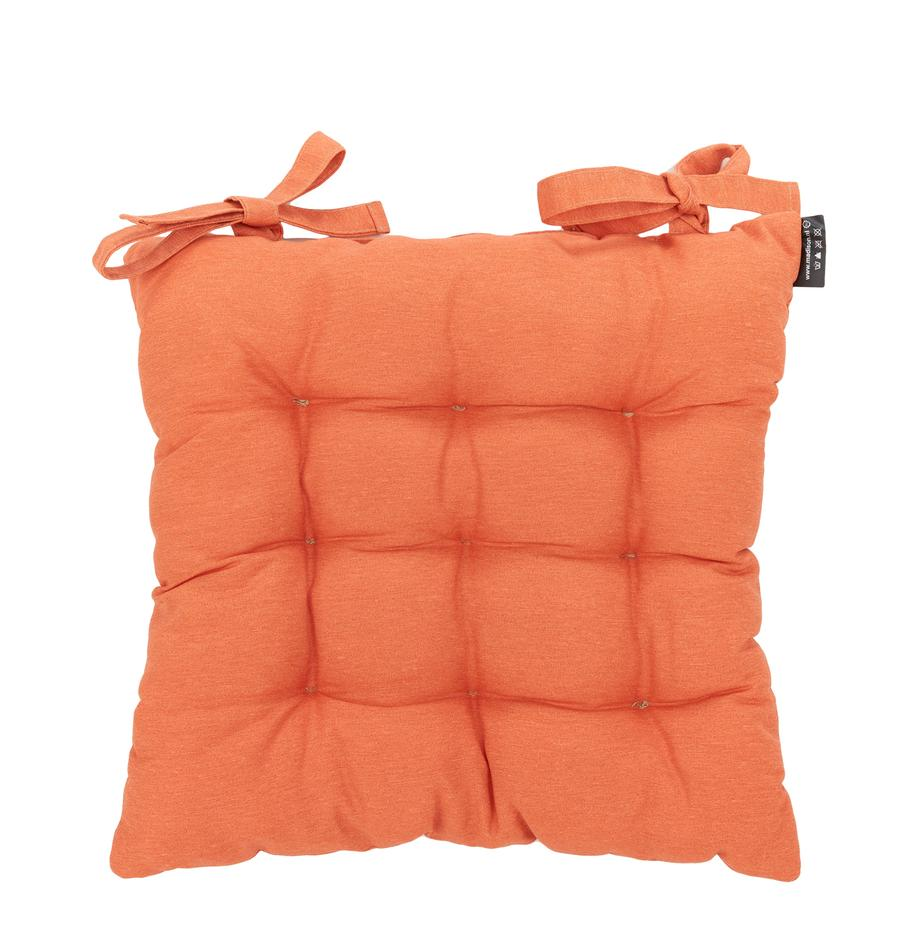 Effen stoelkussen Panama, Oranje, 45 x 45 cm