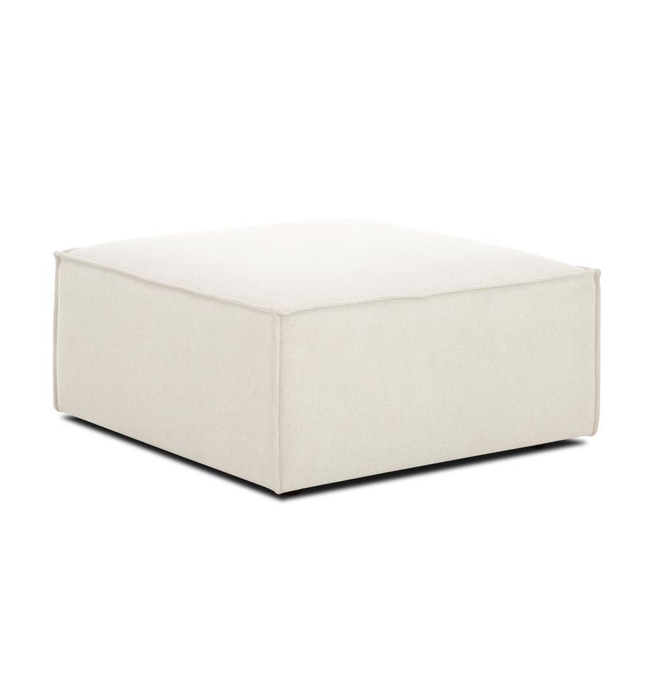 Poggiapiedi da divano beige Lennon, Rivestimento: poliestere 35.000 cicli d, Struttura: legno di pino massiccio, , Piedini: materiale sintetico, Tessuto beige, Larg. 88 x Alt. 43 cm