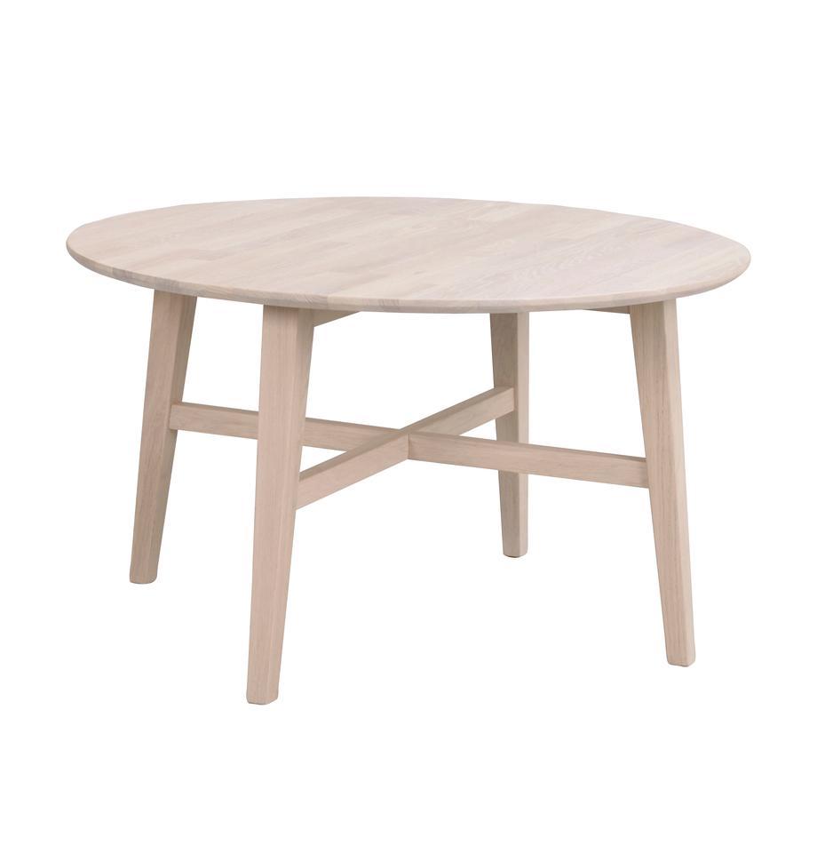 Tavolino da salotto in legno massiccio Filippa, Legno di quercia massiccio, Legno di quercia, Ø 90 cm