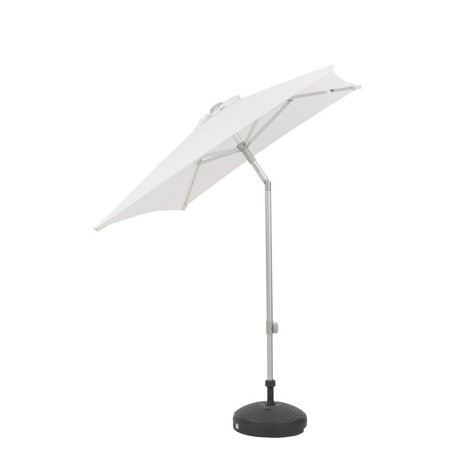 Sonnenschirm Elba, Gestell und Streben: Aluminium<br>Bespannung: Weiß, 150 x 250 cm