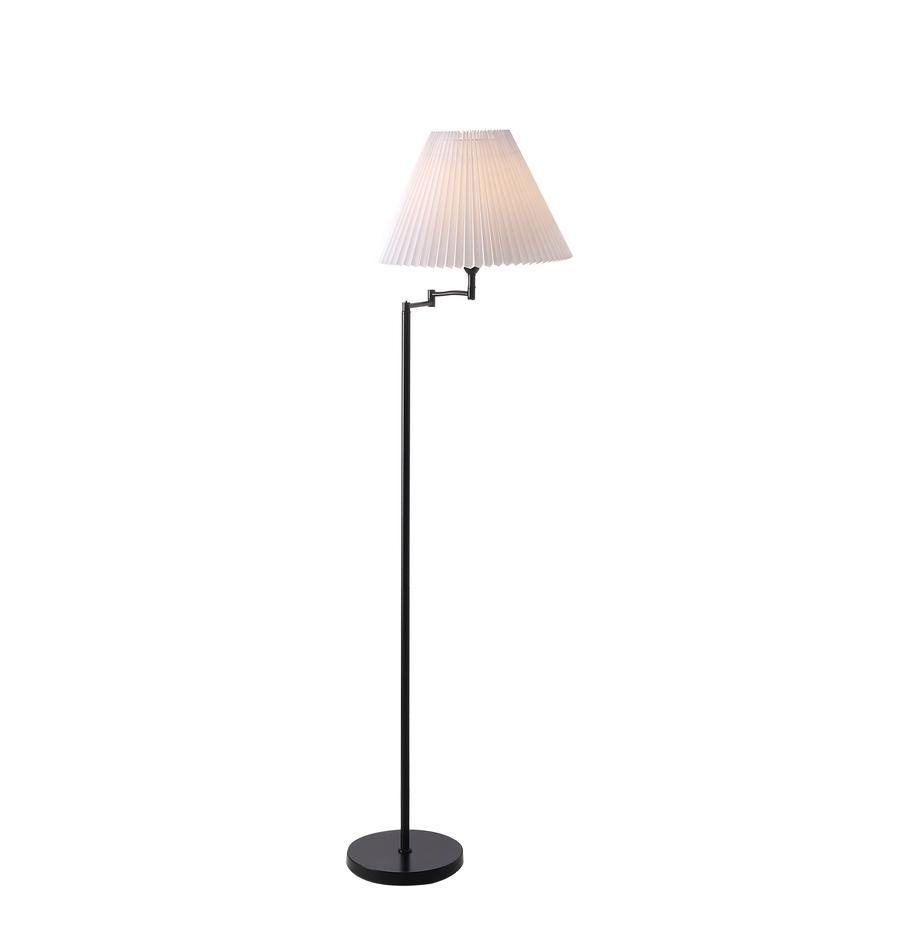 Lámpara de pie de diseño Break, Pantalla: plástico, Cable: plástico, Negro, blanco, Ø 44 x Al 158 cm