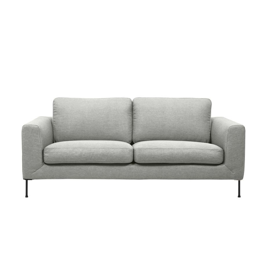 Sofa z metalowymi nogami Cucita (2-osobowa), Tapicerka: tkanina (poliester) Dzięk, Nogi: metal malowany proszkowo, Jasny szary, S 187 x G 94 cm