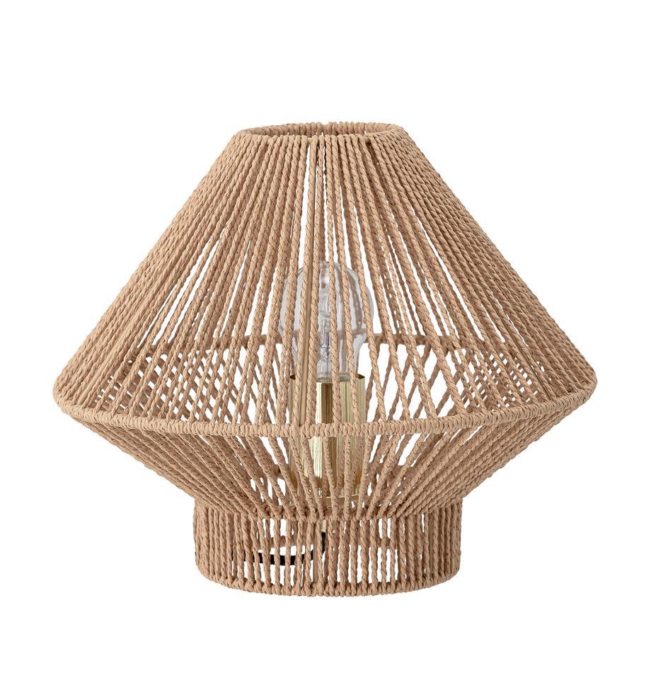 Kleine Tischlampe Rapot aus Papier, Lampenschirm: Papier, Beige, Ø 30 x H 25 cm
