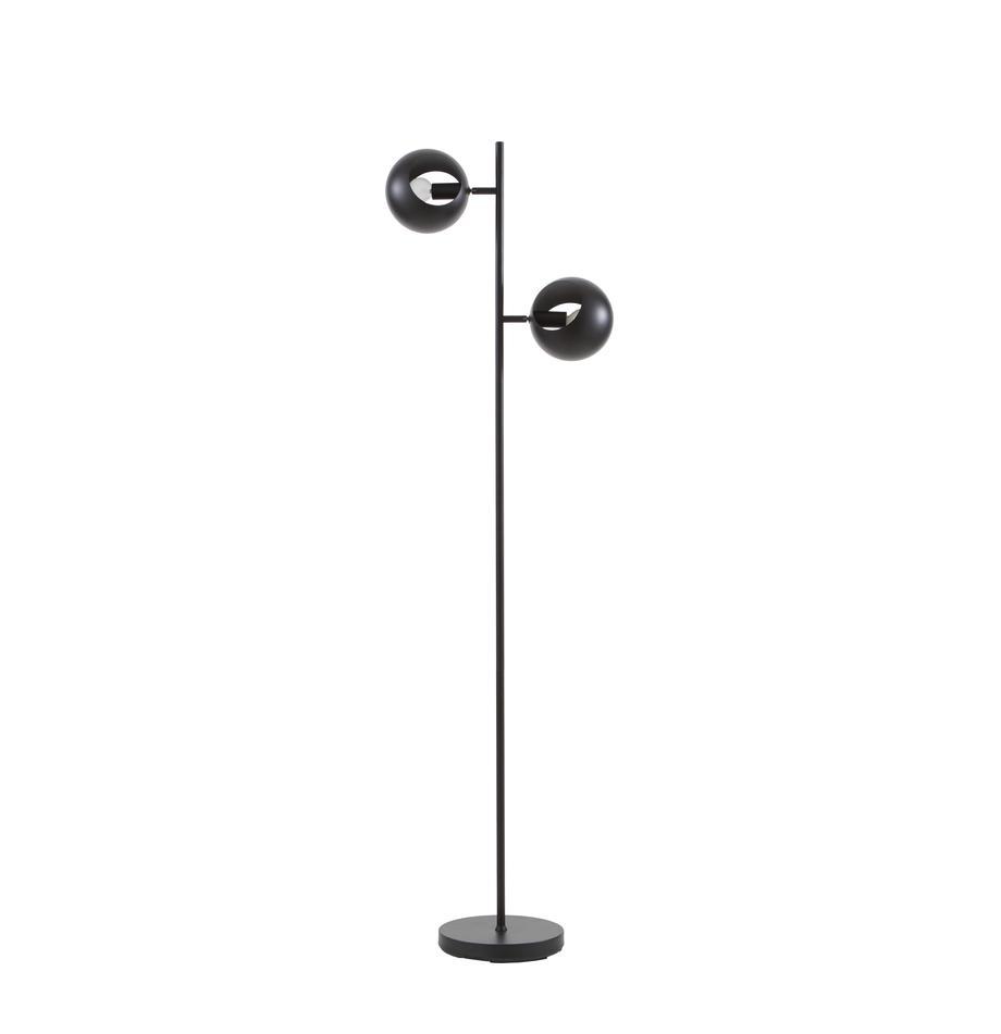 Leselampe Edgar in Schwarz, Lampenschirm: Metall, lackiert, Lampenfuß: Metall, lackiert, Schwarz, 40 x 145 cm
