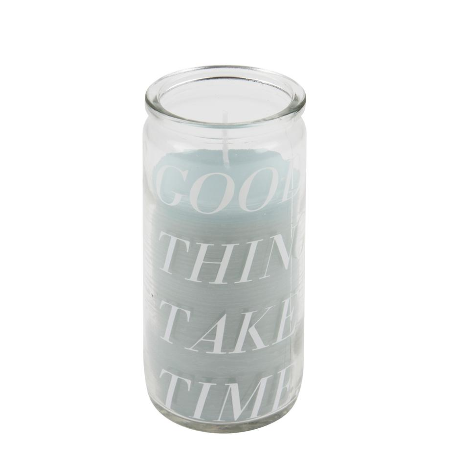 Kaars Good Things, Glas, was, Transparant, mintkleurig, Ø 6 x H 14 cm