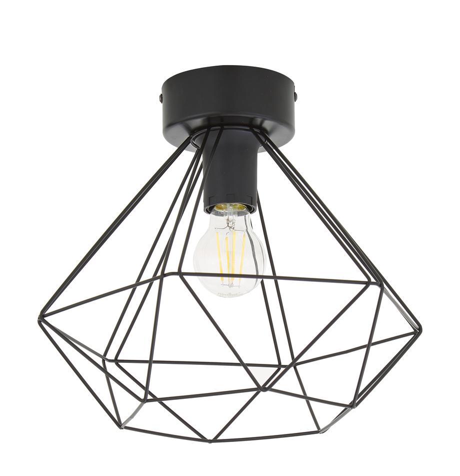 Lampa sufitowa w stylu industrialnym Tarbes, Stal, Czarny, Ø 33 x W 28 cm
