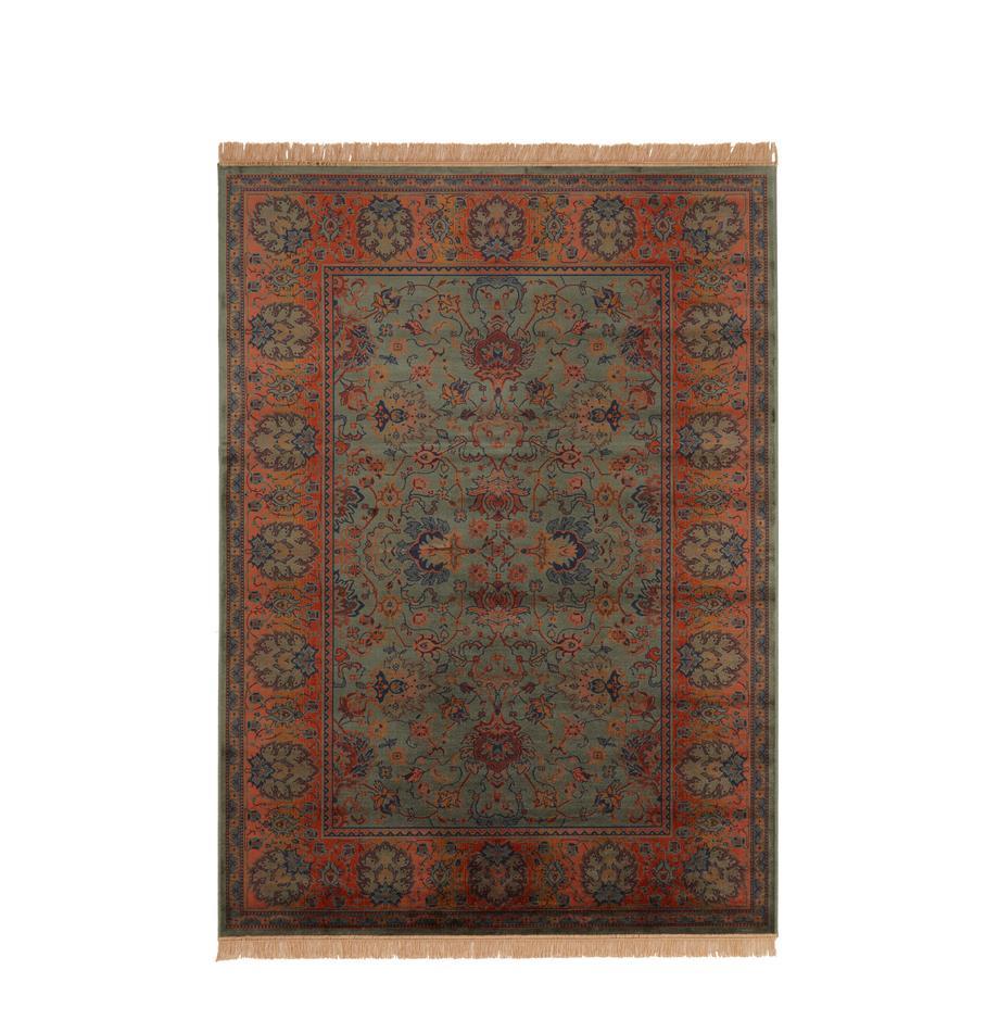 Vloerkleed Bid met bloemmotief in oosterse stijl, Bovenzijde: 38%Rayon, 26%katoen, 26, Onderzijde: synthetische rubber, Groentinten, roodtinten, blauw, beige, B 170 x L 240 cm (maat M)