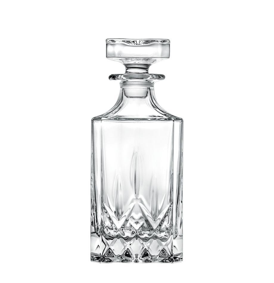 Kristall-Dekanter Opera mit Reliefmuster, 750 ml, Kristallglas, Transparent, H 22 cm