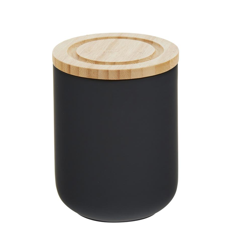 Aufbewahrungsdose Stak, verschiedene Grössen, Dose: Keramik, Deckel: Bambusholz, Schwarz, Bambus, Ø 10 x H 13 cm