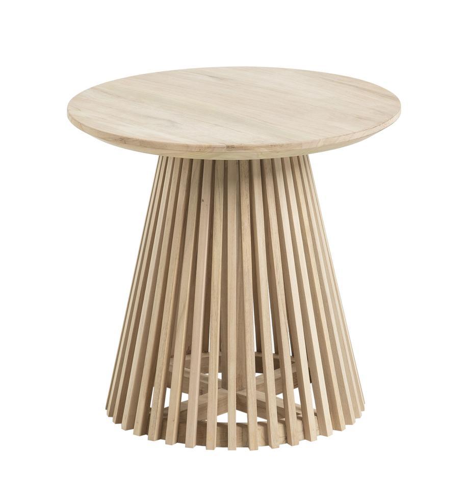 Runder Beistelltisch Jeanette aus Holz, Teakholz, Teakholz, Ø 50 x H 48 cm