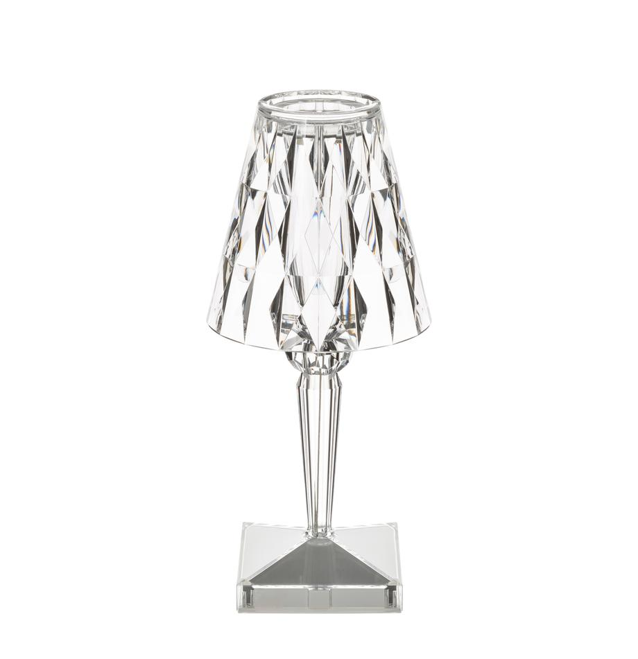 Lampada da tavolo a LED di design Battery, Materiale sintetico, Trasparente, Ø 12 x Alt. 26 cm