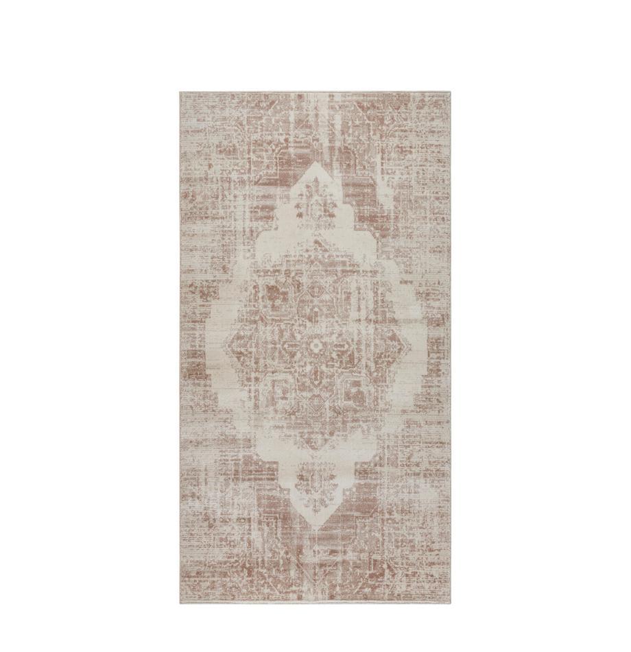 Dywan vintage Garonne, Miedzianobrązowy, beżowy, S 80 x D 150 cm (Rozmiar XS)