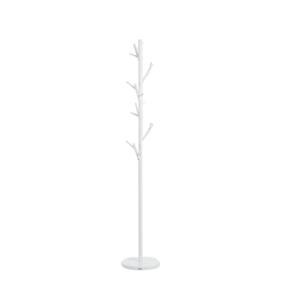 Appendiabiti Tree, Tubolare in acciaio, verniciato a polvere, Bianco, Ø 28 x Alt. 170 cm