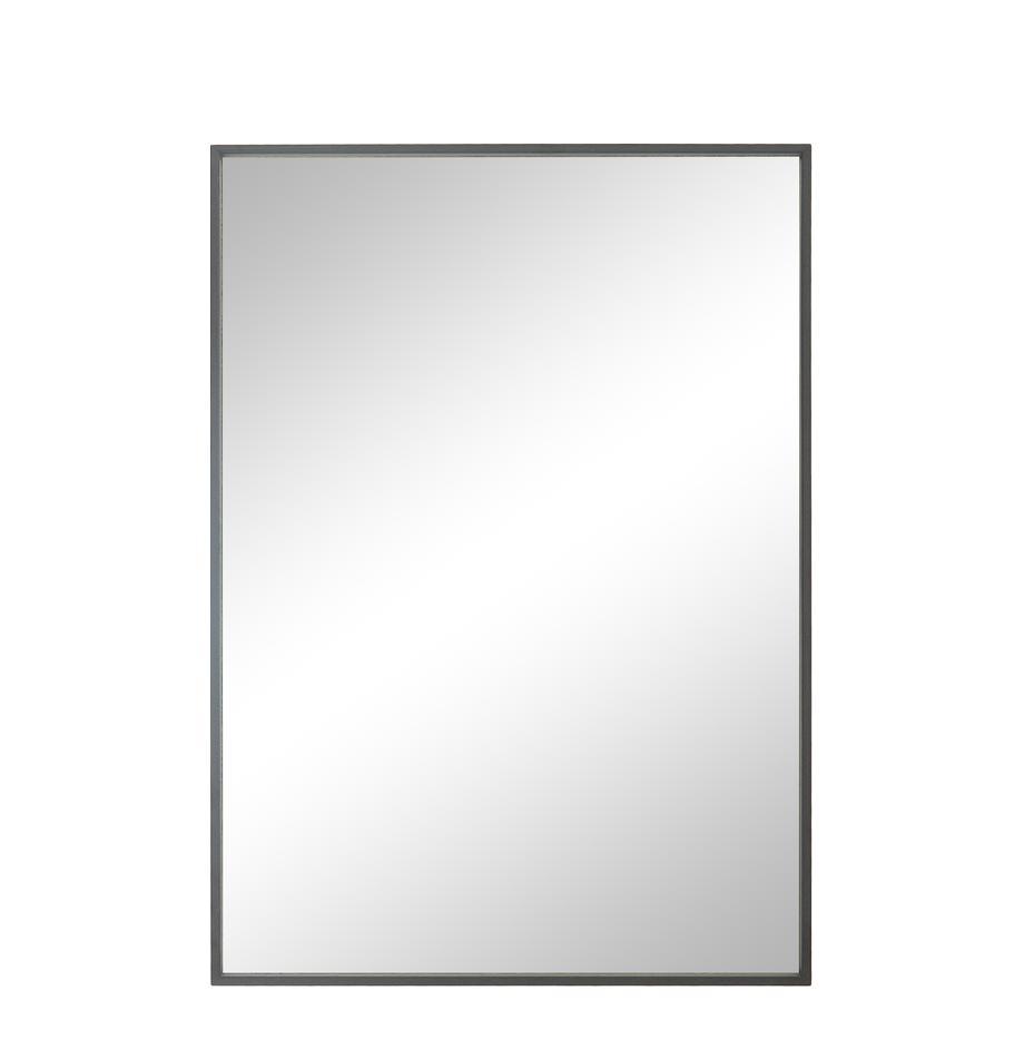 Specchio da parete con cornice Alpha, Cornice: alluminio rivestito, Superficie dello specchio: lastra di vetro, Grigio, Larg. 50 x Alt. 70 cm