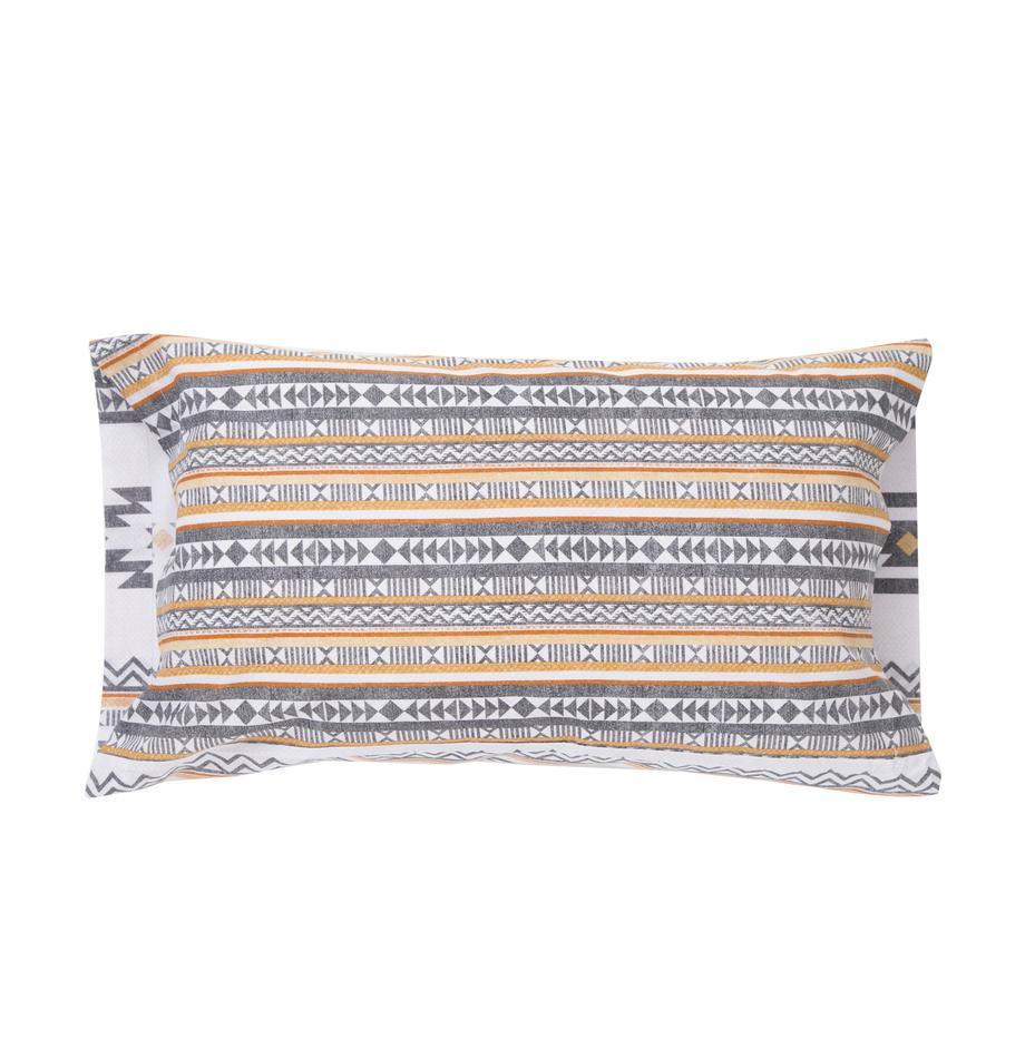 Funda de almohada Aztec, Algodón El algodón da una sensación agradable y suave en la piel, absorbe bien la humedad y es adecuado para personas alérgicas, Multicolor, An 50 x L 110 cm