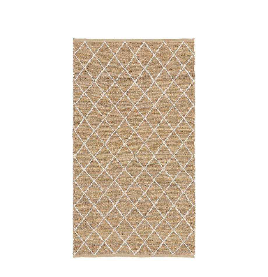 Handgefertigter Jute-Teppich Kunu, 100% Jute, Beige, B 50 x L 80 cm (Größe XXS)