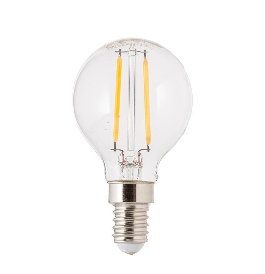 Lampadina a LED E14, 2.5W, bianco caldo, 1 pz, Lampadina: vetro, Trasparente, Ø 5 x Alt. 8 cm