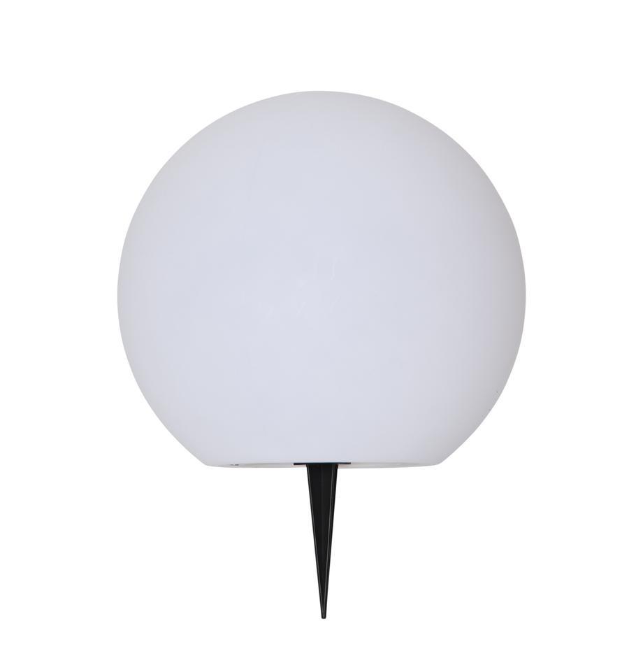 Solar Bodenleuchte Globy, Lampenschirm: Kunststoff, Weiss, Ø 25 x H 23 cm