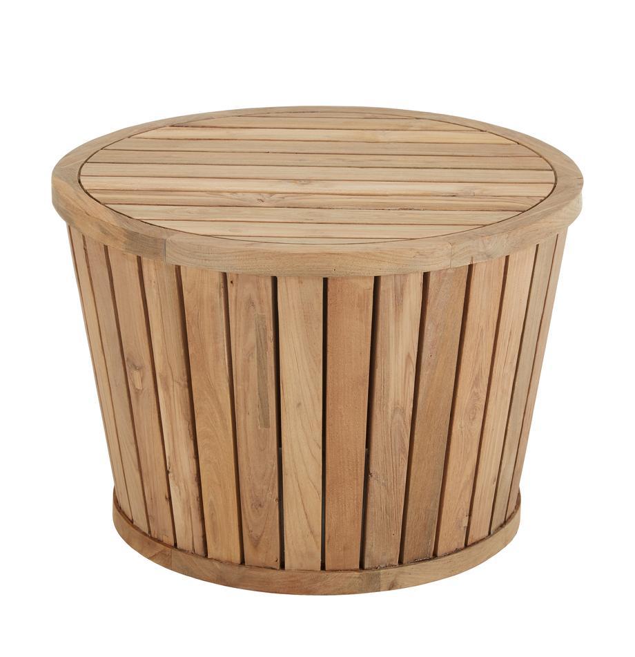 Mesa auxiliar para exterior de madera de teca Circus, Teca reciclada, Teca, Ø 63 x Al 43 cm