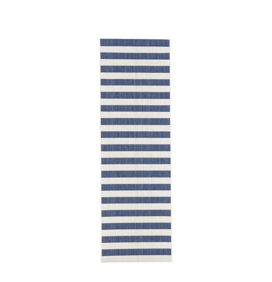 Chodnik wewnętrzny/zewnętrzny Axa, Kremowobiały, niebieski, S 80 x D 250 cm
