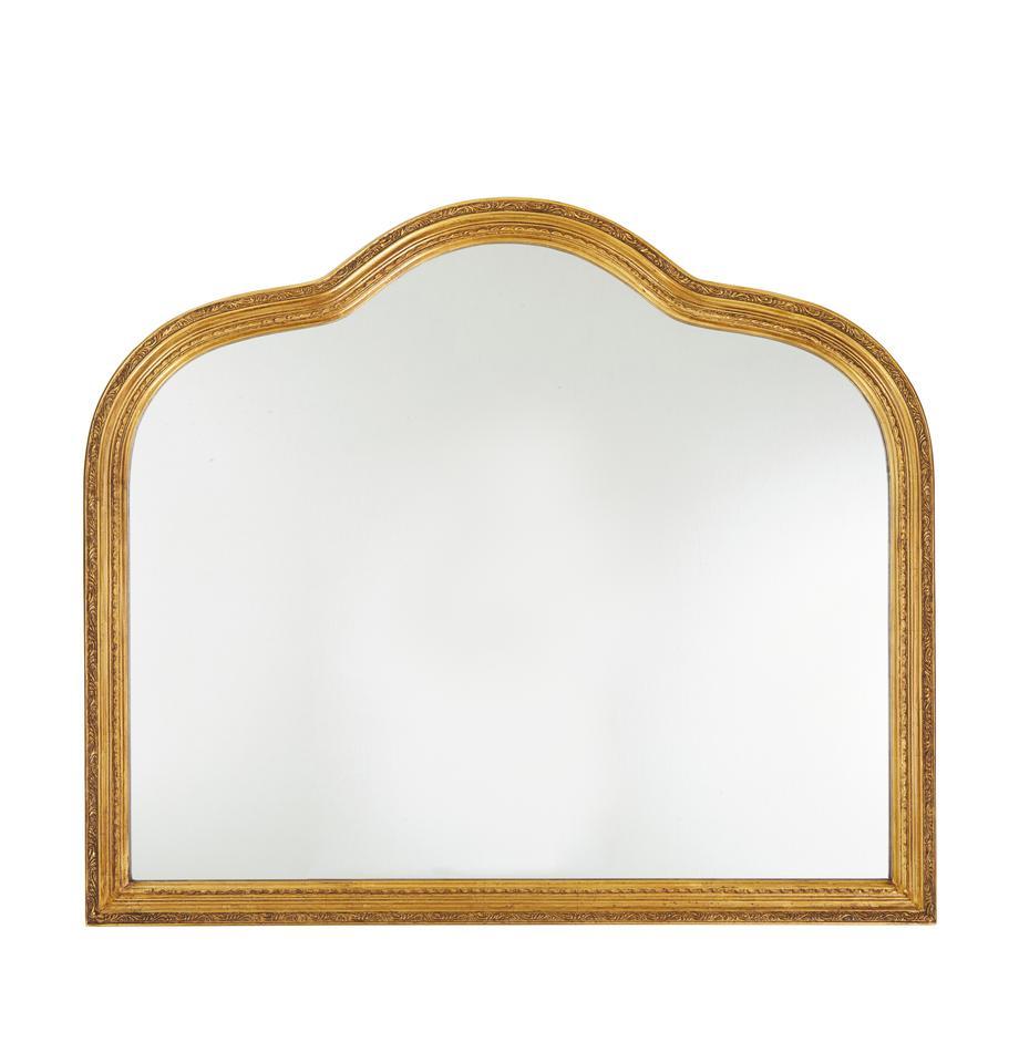 Barok-wandspiegel Muriel, Lijst: massief hout bedekt met g, Goudkleurig, 90 x 77 cm