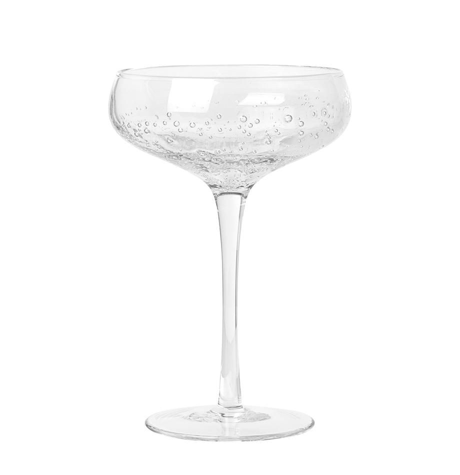 Kieliszki do szampana Smoke, 4 szt., Szkło, Transparentny, Ø 11 x 16 cm