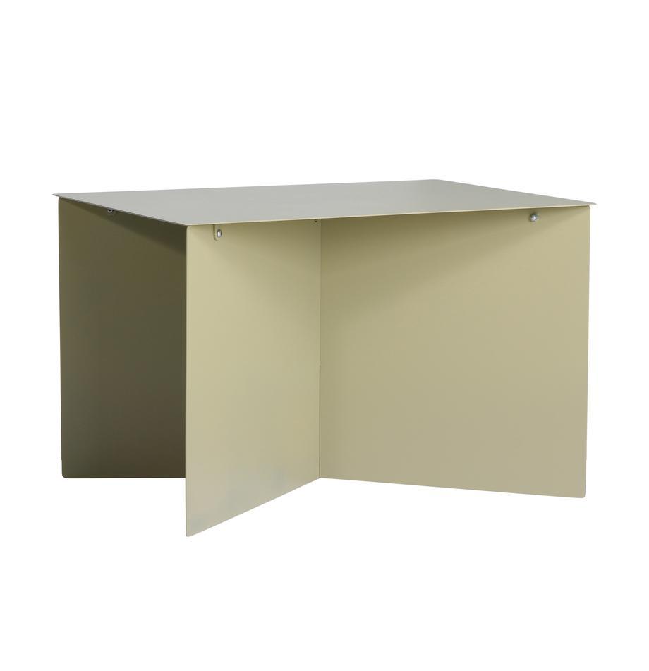 Metall-Couchtisch Dinga in Olivgrün, Metall, pulverbeschichtet, Olivgrün, 60 x 45 cm