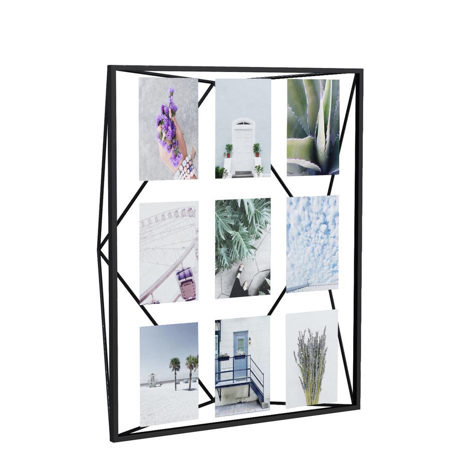 Fotolijstje Prisma, Gecoat metaal, Zwart, 10 x 15 cm