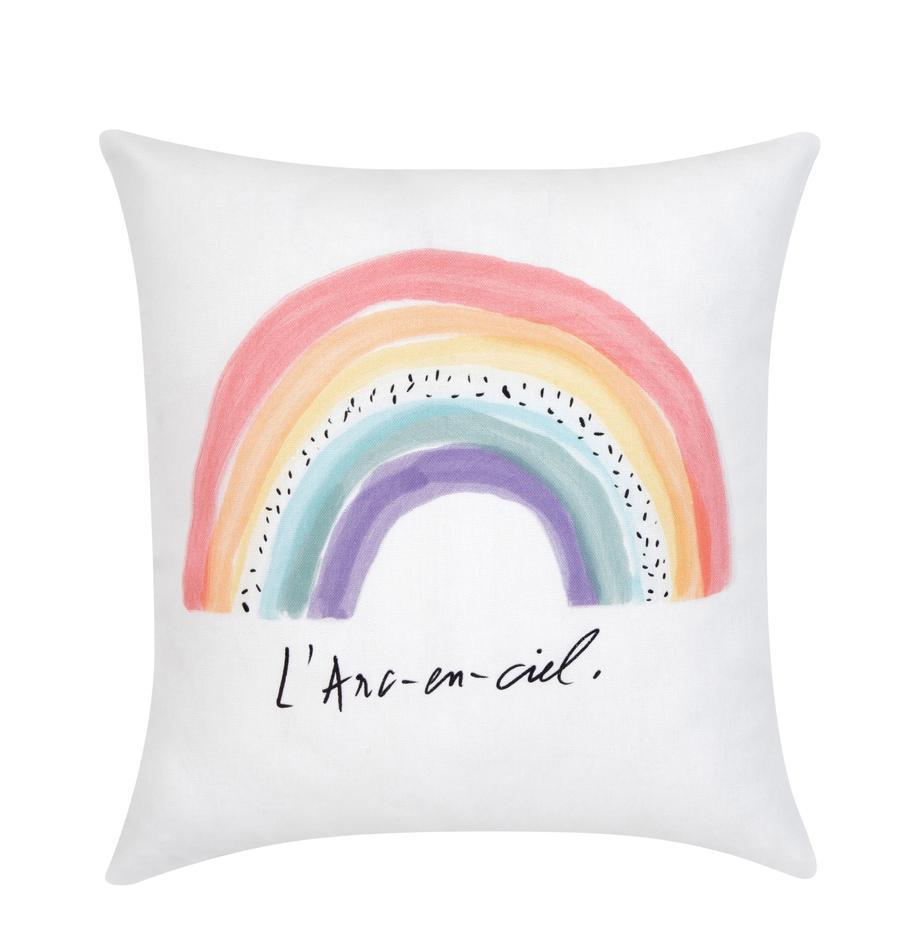 Poszewka na poduszkę Rainbow od Kery Till, Bawełna, Biały, wielobarwny, S 40 x D 40 cm