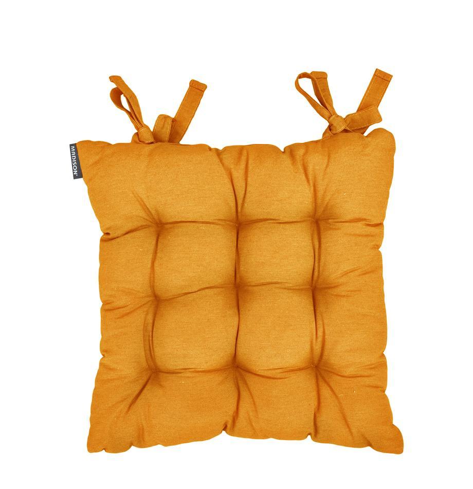 Poduszka na siedzisko Panama, Tapicerka: 50% bawełna, 45% polieste, Żółty, S 45 x D 45 cm