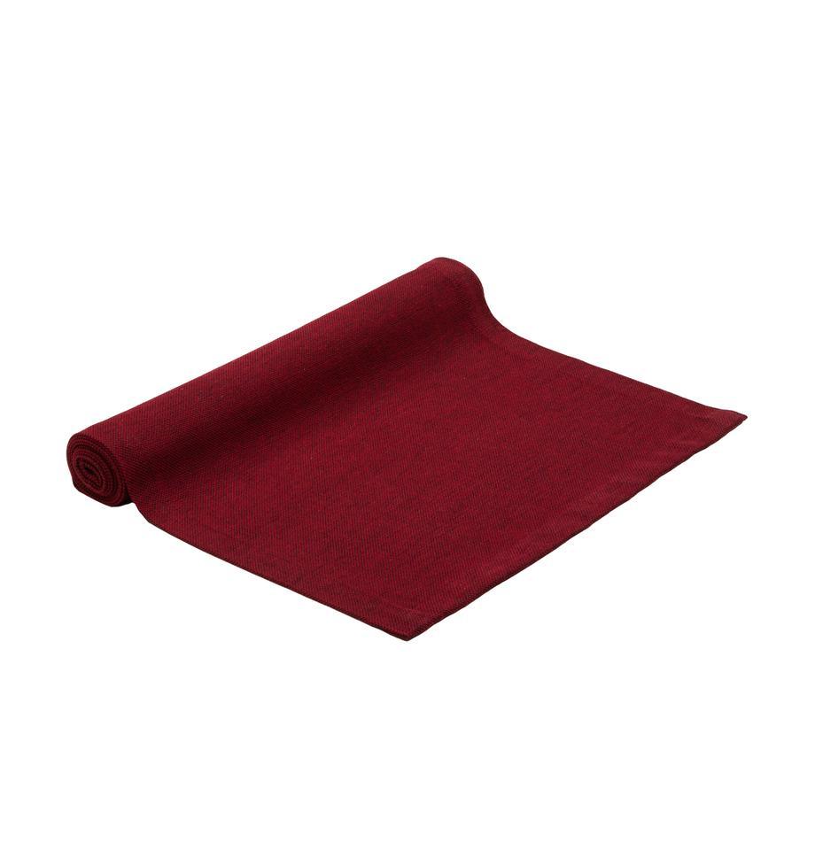 Tischläufer Riva aus Baumwollgemisch in Rot, 55%Baumwolle, 45%Polyester, Rot, 40 x 150 cm