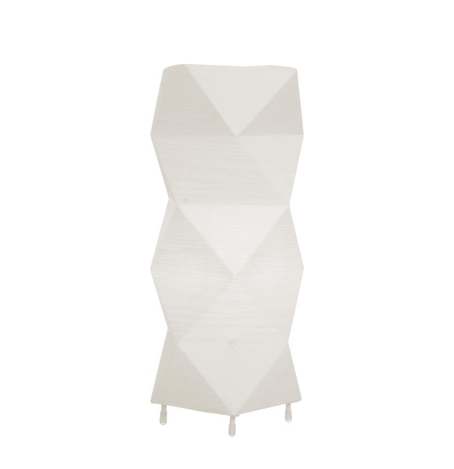 Lámpara de mesa en efecto 3D Veck, Pantalla: plástico, Cable: plástico, Blanco, An 16 x Al 37 cm