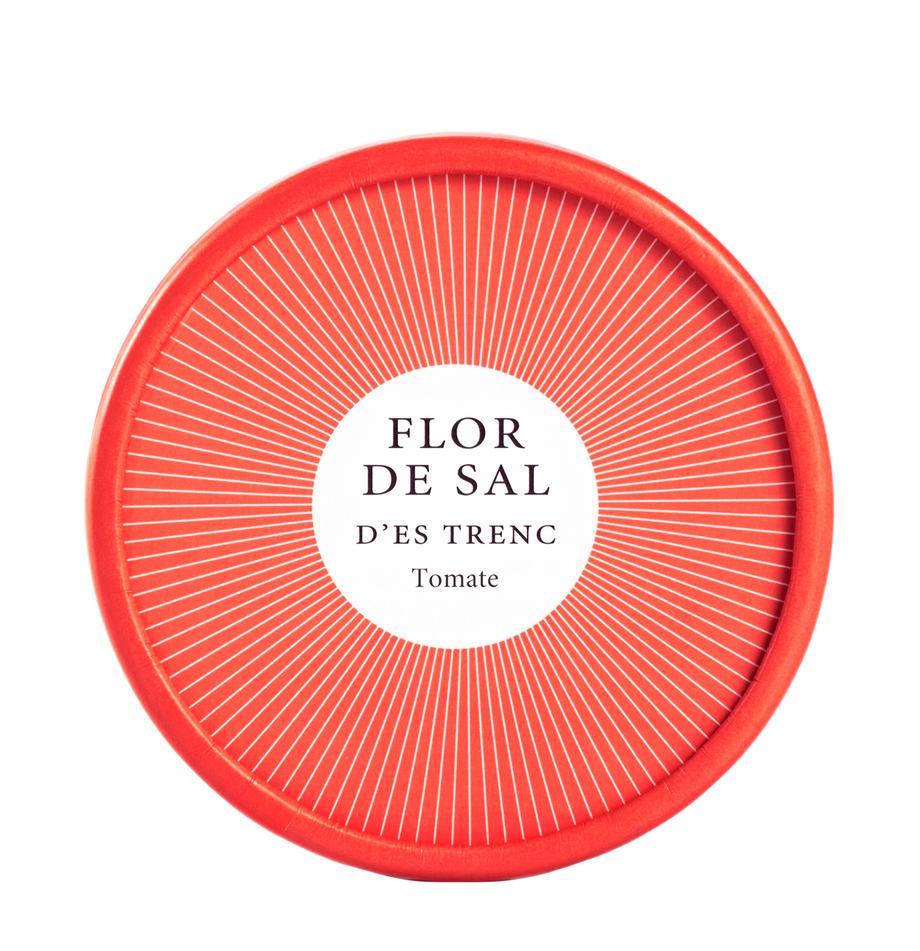 Gewürzsalz Flor de Sal d´Es Trenc (Tomaten), Dose: Pappmembran, Rot, 150 g