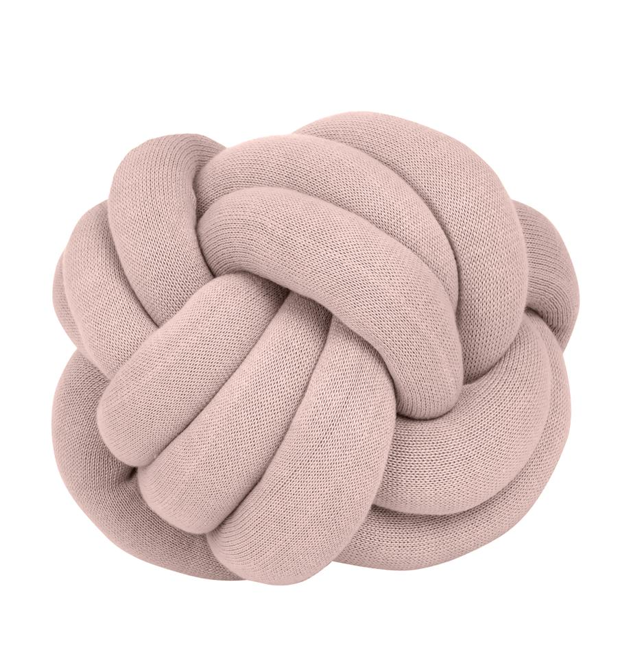 Knoten-Kissen Twist in Rosa, Rosa, Ø 30 cm