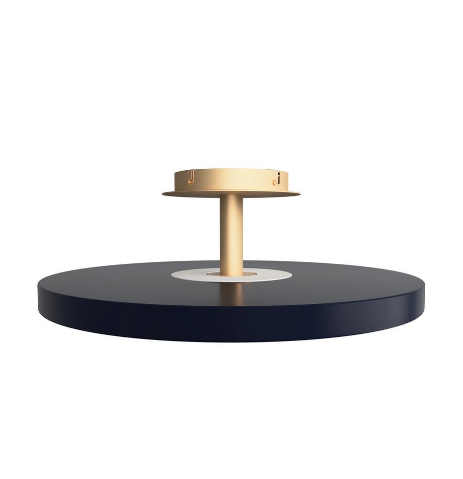 Design LED-Deckenleuchte Asteria, Lampenschirm: Aluminium, lackiert, Anthrazit, Goldfarben, Ø 60 x H 21 cm