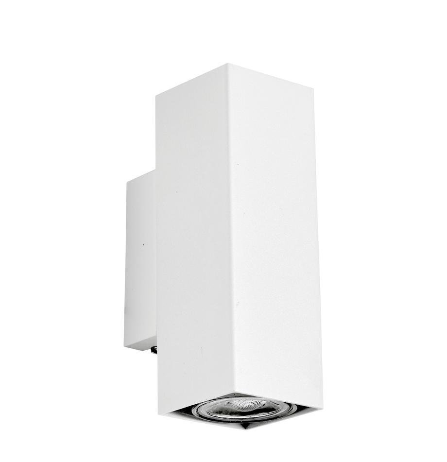 Kinkiet LED Peter, Metal malowany proszkowo, Biały, S 5 x W 8 cm
