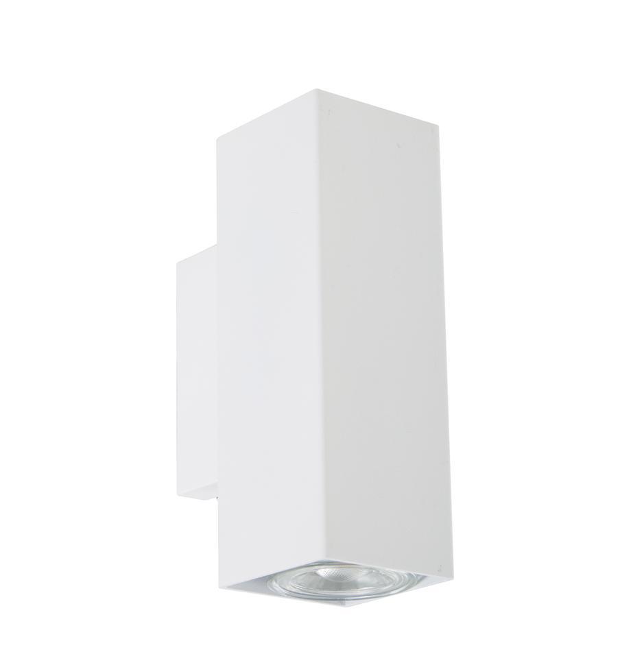 Applique a LED Peter, Paralume: metallo verniciato a polv, Bianco, Larg. 5 x Alt. 8 cm