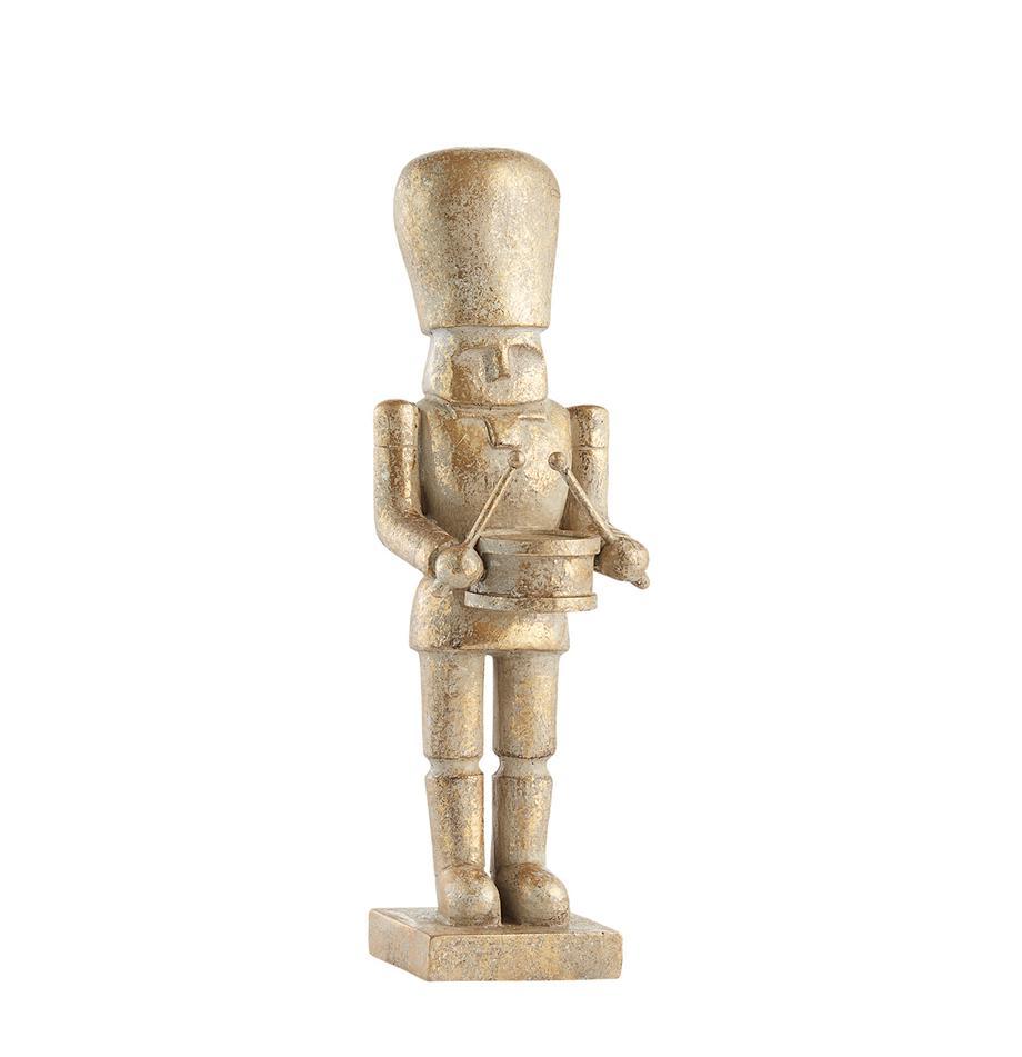 Deko-Objekt Drummer, Polyresin, Goldfarben, Ø 7 x H 23 cm