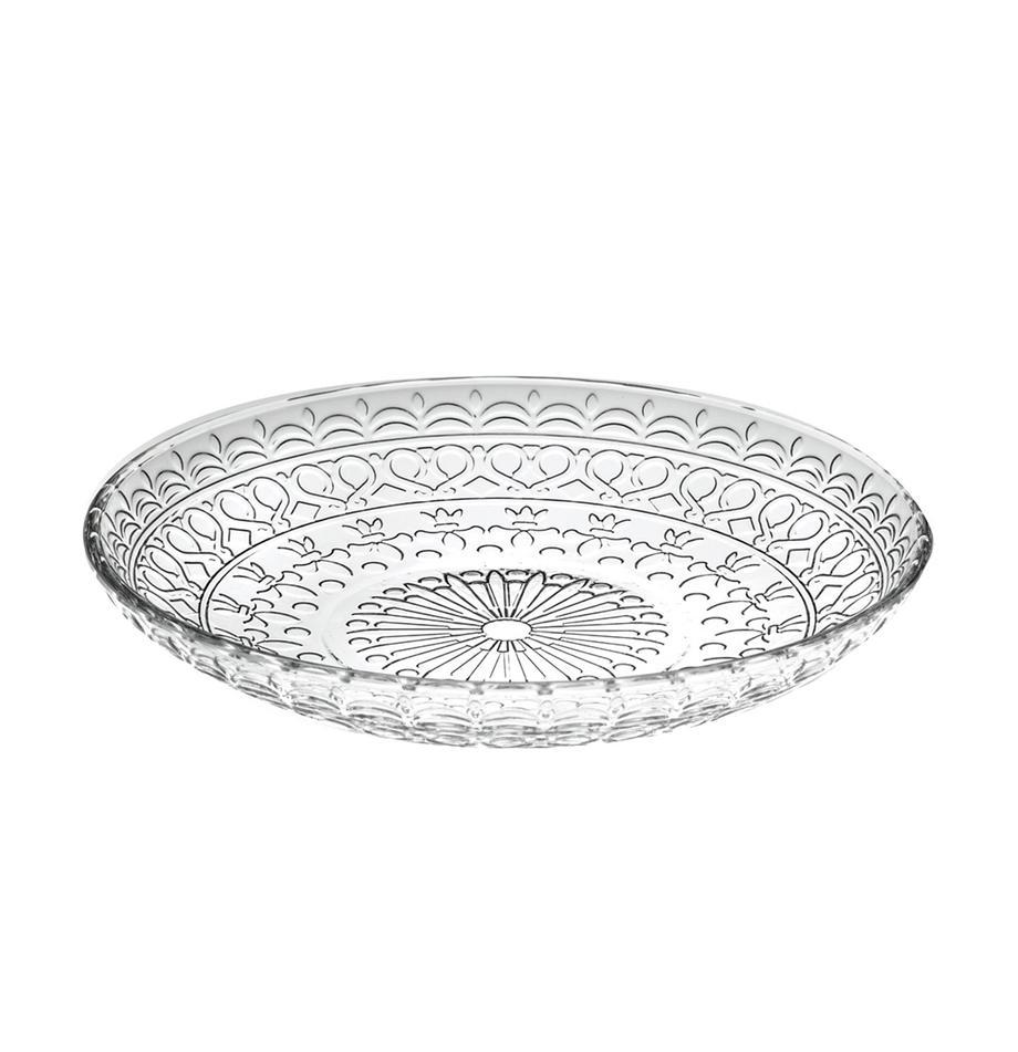 Talerz deserowy z kryształu Frutta, 4 szt., Szkło kryształowe, Transparentny, Ø 18 cm