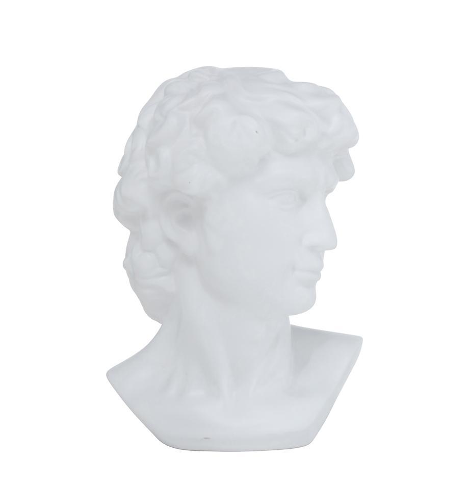 Figura decorativa Ludovico, Gres, Blanco, An 20 x Al 29 cm