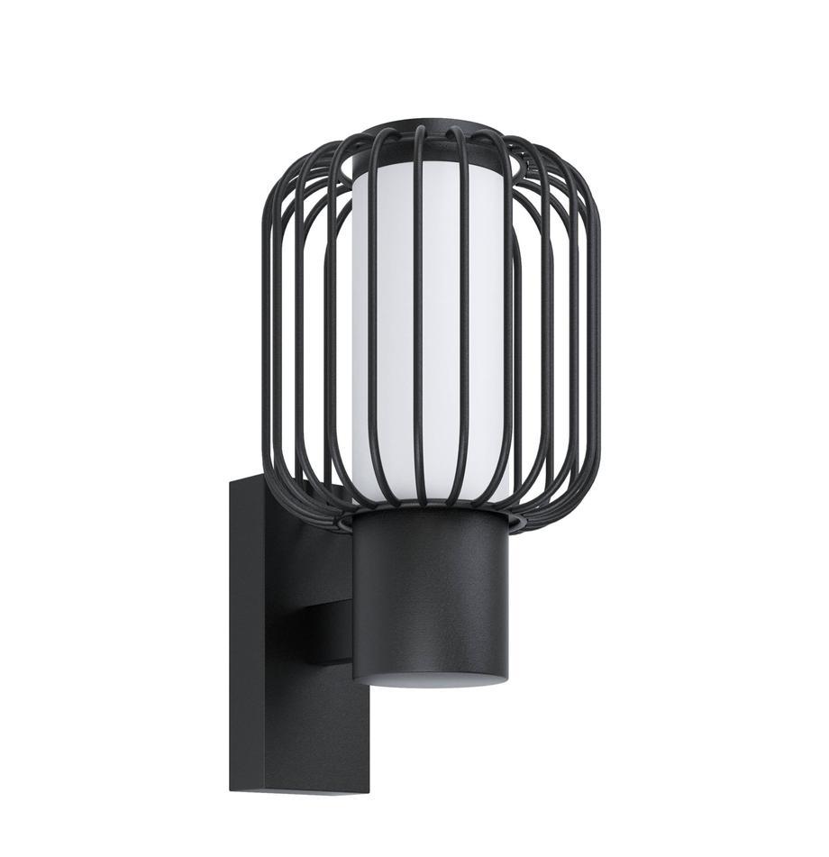 Design Außenwandleuchte Ravello, Lampenschirm: Kunststoff, Schwarz, 17 x 28 cm