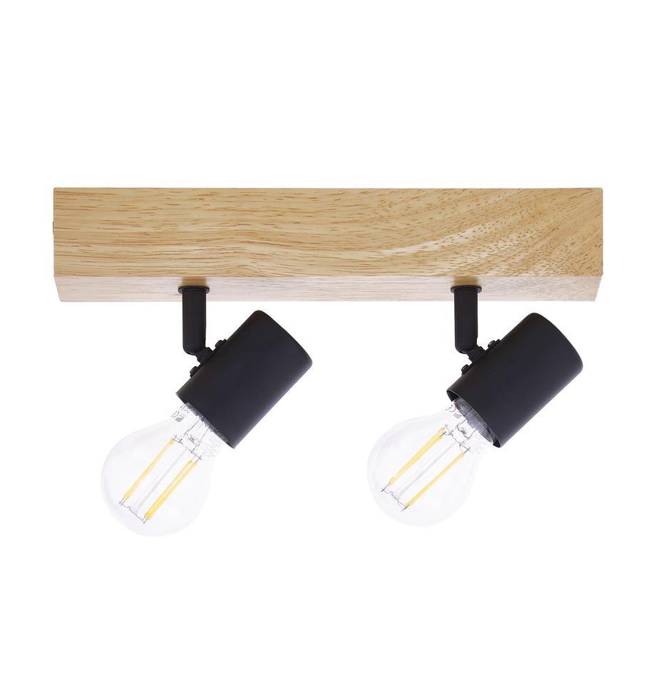 Riel pequeño de madera Townshend, Anclaje: madera, Negro, madera, An 30 x Al 13 cm