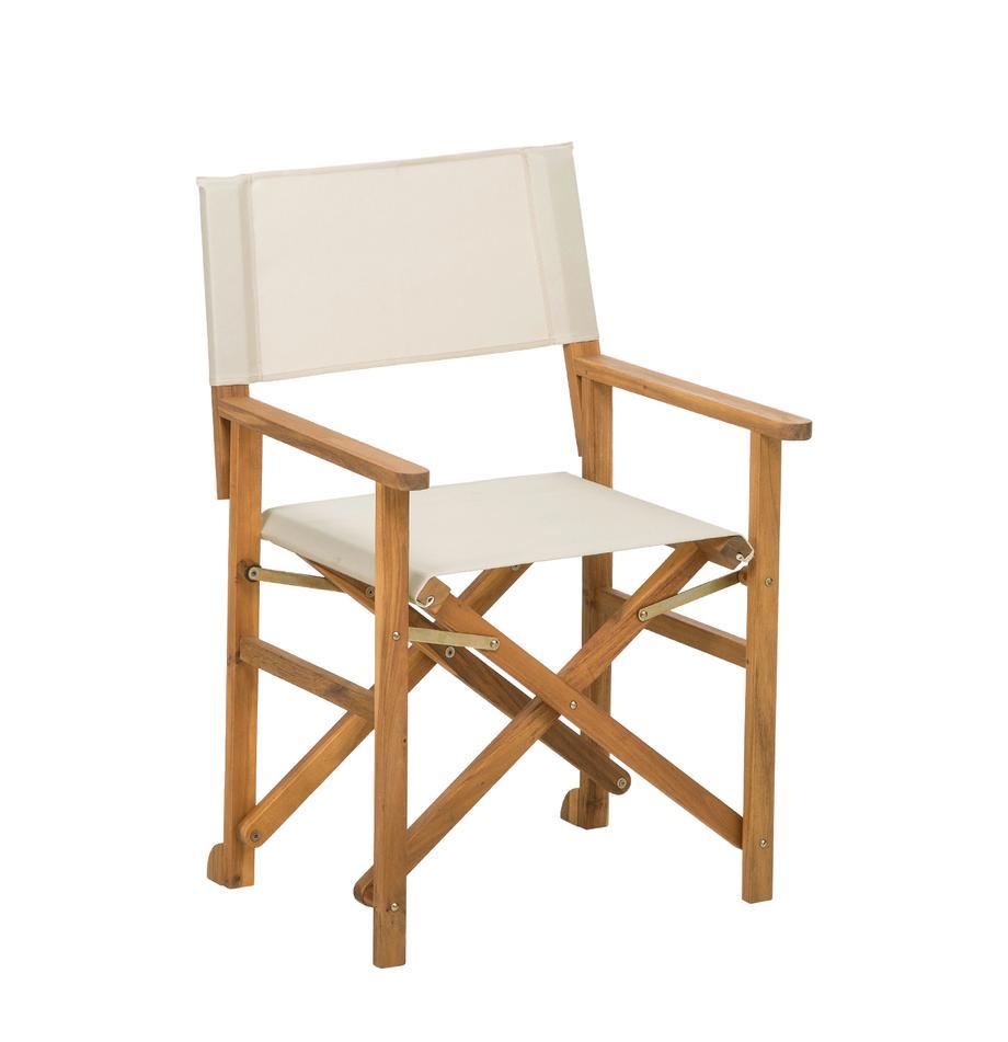 Sedia da giardino Zoe, Struttura: legno d'acacia, oliato, Bianco, Larg. 52 x Prof. 58 cm