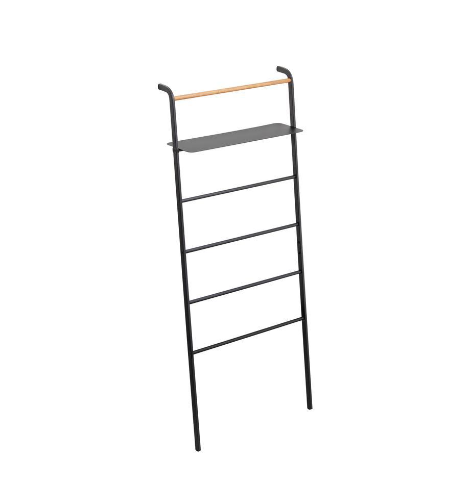 Estantería de escalera de metal Lena, Estructura: metal con pintura en polv, Negro, An 66 x Al 160 cm