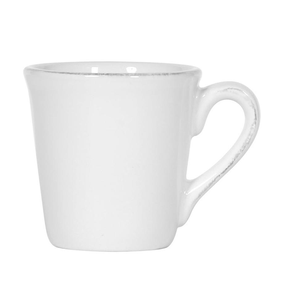 Filiżanka do espresso Constance, 2 szt., Kamionka, Biały, Ø 8 x W 6 cm